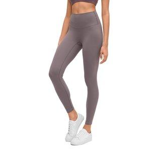 LU-65 de haute qualité 2020 femmes Pantalon de yoga Skinny Collants running Mid taille Fitness Workout Leggings Femmes Jogging Pantalons Gym Vêtements