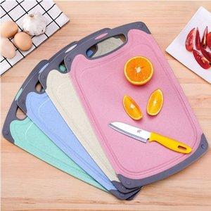 Non-Slip Wheat Straw Cutting Board Environmentally PP Chopping Board Food Slice Cut Chopping Block Bar Kitchen Tools Fruit Board
