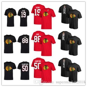 #19 Jonathan Toews #88 Patrick #50 Crawford Men's Chicago Blackhawks t-shirts Designer Hockey Jerseys fans Tops Tees outwear printed lo