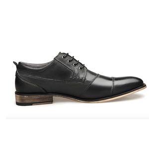 Männer kleiden Schuhe Qualitäts-Entwerfer-Schuh-echtes Leder Lace-up Loafers Gentleman Business-Tanzen-Partei-Hochzeit Schuhe Big Size US7.5-13