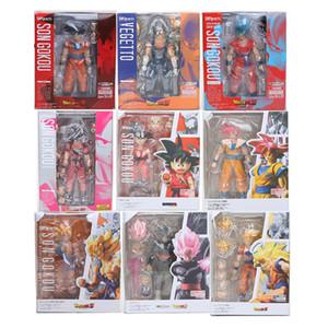 16 cm SHF figuarts Dragon Ball Z Son Goku SHFiguarts Súper Saiyan Vegetto Goku Negro PVC Figura de acción Colección Juguete en caja