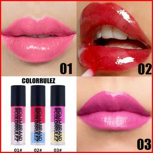 DNM Nude scintillio di luccichio Lipgloss Long Lasting Moist Lipglaze a tre strati di colore delle donne sexy del rossetto liquido Trucco Lip impermeabile