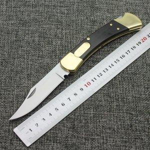 파인 knives110 톱니 황동 + 나무 손잡이 사냥 야외 캠핑 사냥 포켓 과일 칼 EDCStyle 혁신적인 나이프 크리스마스 선물