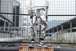 Pocket Sport Vêtements style Casual Automne Casual Apparel Cargo Pants Mens Slim Desinger Pantalons camouflage Imprimer