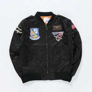 Bombardero Ejército de EE.UU. Bandera chaquetas de los hombres de los ángeles azules de los Tigres Voladores piloto Coats rompevientos Hip Hop Asiático Tamaño