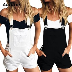 2020 New Women Slim Denim Overalls Jeans Pants Ripped Overalls Straps Jumpsuit Rompers Shorts Jumpsuit Plus Size#A3