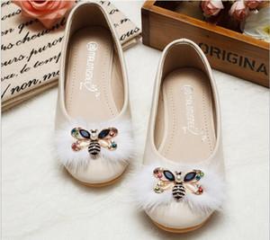 İlkbahar sonbahar modeli küçük kız princessdance ayakkabı yumuşak alt kaymaz arılar elmas çocuk ayakkabı Öğrenci performansı