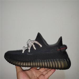 2019 Designer Shoes Yecheil Nuvem Branca Kanye West Sapatas Running Zebra fulgor verde Creme Synth Boy Meninas Sneakers