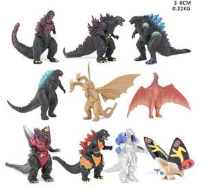 10 pcs set 3-6cm Godzilla Action Figures Second generation Dinosaur Monsters figures PVC 3-6CM Children kids toy