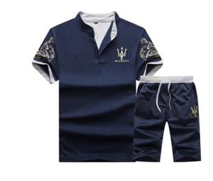 Дизайнер Дизайнерской Марки женской одежда бегунов Комплекты женских случайные O-шея Письма отпечатанной тенниски + шорты костюмов спортивной одежды костюмы