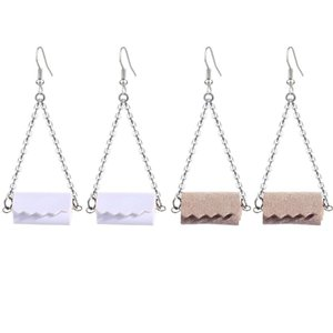PU Leather Toilet Roll Dangle Earrings Necklace for Women Creative Tissue Geometric Cute Earring New Fashion Roll Paper Jewelry Gifts