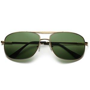 Fashion sunglasses metal square spring sunglasses male and female drivers driving anti-glare glass sunglasses