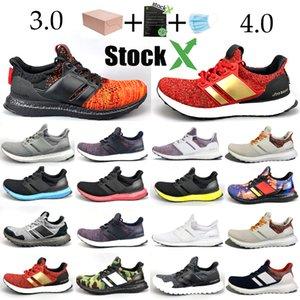 Zapatillas para correr 3.0 4.0 Hombre Mujer Raya Balck Blanco Oreo Designer Sneakers Zapatillas Ultraboost Sport Zapatillas de deporte Tamaño 36-45