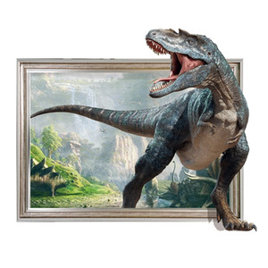 3D Dinosaur Pattern Removable Wall Sticker Self Adhesive Decal Waterproof Mural Art Bedroom Living Room Cool Home Decor New