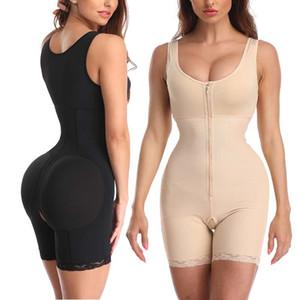 Minifaceminigirl Женщины послеоперационного Body Shaper Open промежность высокой талией Butt Lift для похудения Bodysuit Бесшовные Shapewear T200608