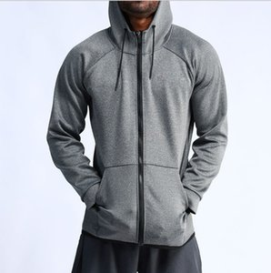 Outdoor Allenamento Giacche Uomo di secchezza rapido Zipper Hooded Felpe basket in esecuzione Coats Outwears Man