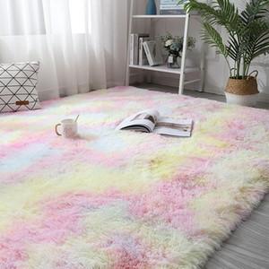 Bunte Teppiche für Wohnzimmer weichen flaumigen Teppich Schlafzimmer Sofa Couchtisch Bodenmatte Shaggy Teppich Kinderzimmer Study Area Rug