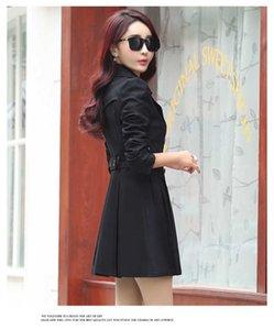 BIUZKO Angleterre Style coréen Casual veste de tranchée pour femmes Casual européen des tranchées manteaux élégant Slim Designer Wind Breaker