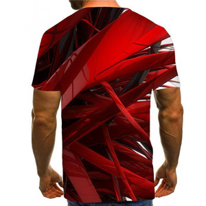 Moda de impresión en 3D camiseta de los hombres 2019 de la manga a estrenar del cortocircuito del Hombres divertido Harajuku Slim Fit T Shirts Hip Hop Streetwear Camiseta Homme
