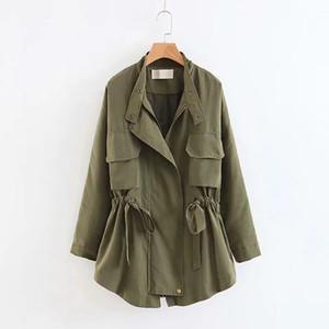 BIUZKO Регулируемая талия Свободные тонкие женские плащи и куртки Harajuku Повседневная дизайнерская ветровка Корейское осеннее пальто