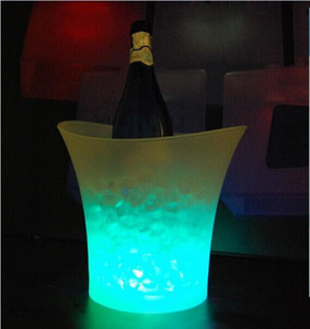 5L Volume plastic led ice bucket color changing,5L bars nightclubs LED light up ice bucket Champagne wine beer bucket bars
