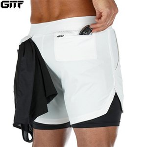 2020 Yaz 1 Spor Koşu Spor Şort Eğitim Hızlı Kuru Erkek Spor Erkek Spor salonu Kısa Pantolon Şort Men 2 Running