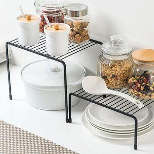 Wholesale Wrought Iron Floor Single-layer Seasoning Dish Desktop Cabinet Sink Drain Rack Not Easily Deformed Black Color Kitchen Storage