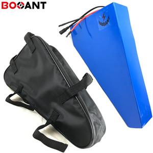 Batteria al litio a triangolo 52V 20Ah 1000W 14S 51,8V 1500W 2000W batteria bici elettrica per cellulare LG 18650 con borsa con caricatore 5A