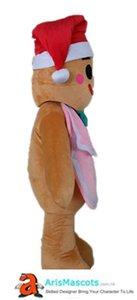 Gingerbread Man costume de mascotte pour Noël en pain d'épice costume adulte mascots homme à vendre en pain d'épice de Noël Fille Costume pour l'événement