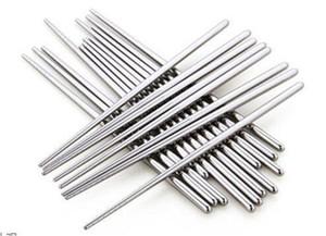 Mutfak, Bar Sofra Paslanmaz çelik Yemek Çin Chopsticks Mutfak Rrestaurant Chopsticks MQC 100pairs yemek çubukları
