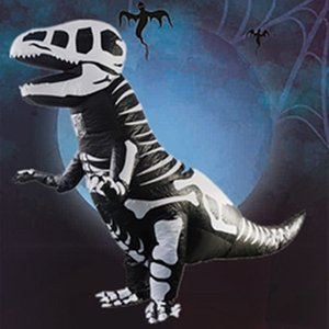 T-REX Mascot Inflatable Costume For Child Adult Anime Cosplay Dinosaur Animal Jumpsuit Halloween Gift Skull dinosaur For Cosplay Disfraz