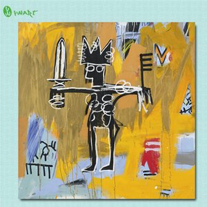 Jean Michel Basquiat Untitled Julius Caesar On Gold,HD Canvas Printing New Home Decoration Art Painting (Unframed Framed)