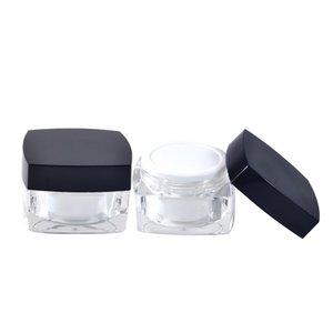 500PCS * 30g Atacado Cosmetic Limpar Jars alta qualidade Acrílico claro jar 5g 10g 15g 30g Eye Creme Jars Caso Container Make up