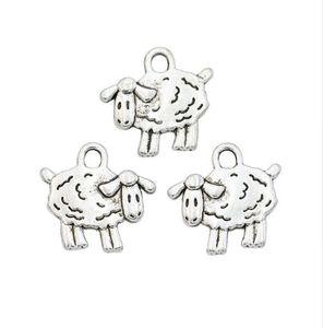 200 teile / los Antikes Silber Überzogene Schafe Charms Anhänger für Halskette Schmuck Handgemachte Fertigkeit DIY 15x16mm