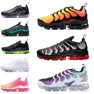 Erkek Bayan Koşu Ayakkabıları Gökkuşağı Bumblebee Günbatımı Üzüm Üçlü Siyah Beyaz Kırmızı Köpekbalığı Diş Kadın Spor Sneakers Boyutu 3645