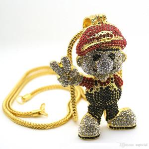 Pop alta USpecial USpecial New Gold Lage colgante tamaño juego de dibujos animados joyería de Hiphop del collar de Bling Bling hacia fuera helado joyería envío de la gota