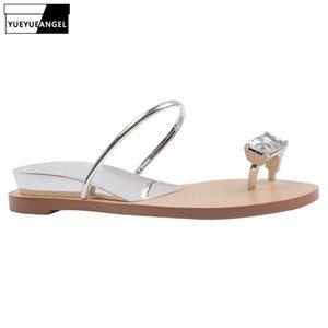 Altezza Estate Nuovo Strass sandali piani delle donne all'aperto Aumentare sandali di svago Bianco Silver Beach Pantofole Infradito