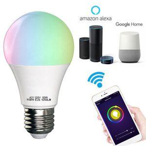 Poupança de energia Multifuncional Lâmpada RGB + Branco Quente WI-FI LED Inteligente Lâmpada de Controle de Voz Trabalho Com Alexa Night Light Bulb BH1183 TQQ