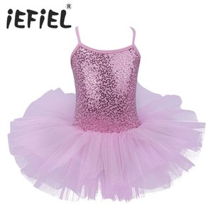 Cheap Ballet iEFiEL Kids Girls Ballet Dress Baby Children Cosplay Tutu Flower Dress Tulle Dancewear Clothing Ballerina Fairy Party Costumes