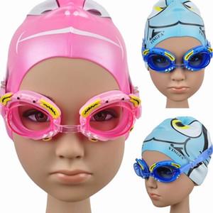 garçons de dessins animés professionnels authentiques et filles lunettes de natation formation lunettes de natation lunettes de natation fabricants de gros bleu rose
