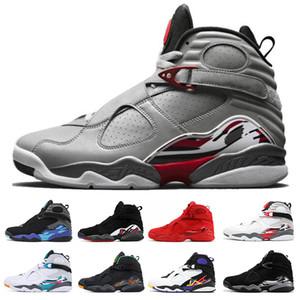 San Valentino Aqua White Black 8 8s Uomo Scarpe da pallacanestro Chrome Countdown Pack 3 PEAT VIII Scarpe da ginnastica sportive Sneaker taglia 7-13