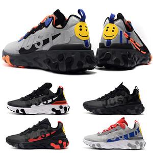 Baskets mode Homme Sport Chaussures de course React Element Triple Noir Royal Game Loup Gris sneaker Bred Mode entraîneurs des hommes de sport Taille 7-11