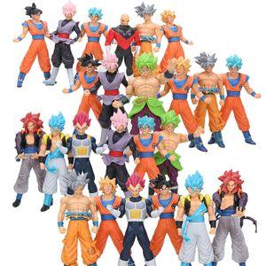 18 centímetros Dragon Ball Super Ultra Goku Instinct Super Sayan Goku Rose Preto Jiren Broly Brolyi PVC Action Figure Toys
