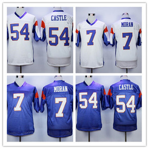 7 Alex Moran Jersey Blue Mountain State BMS Télévision Movie Maillots 54 Kevin Thad Castle Broderie Logos Sports Chemises Taille S-4XL