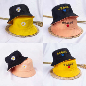Hot Bucket Sun Cap For Kids Children Hats Baby Girls Fashion Fisherman Hat Topee Wearable on both sides YD0583