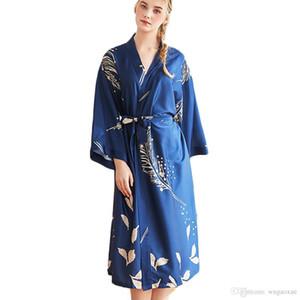 Donne estate Simulazione degli indumenti da notte Pigiama di seta da donna Biancheria da notte sexy Lingerie Accappatoio Accappatoio da sposa Abito da sera pijama gecelik