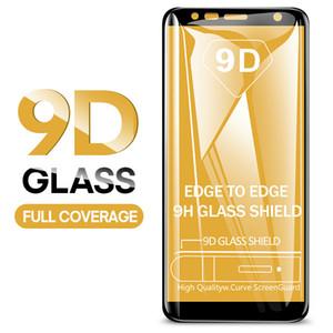 9D Trempé Verre Pour Samsung Galaxy J4 Plus J6 J8 A6 A8 A7 2018 Protecteur D'écran A5 A3 A7 2017 Film De Protection En Verre
