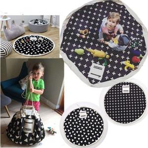 Large Toys Storage Bag Mat Kids Baby Canvas Portable Game Play Mat Toy Box Washing Bins Sundries Organizer Cartoon Buggy Sack Hanging Bags