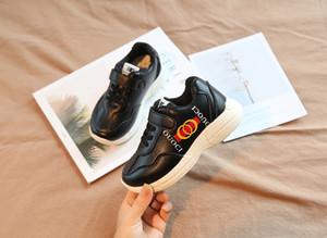 Autunno 2020 GC New child running shoes versione coreana Wild Boy Girl Leisure nero bianco Sneakers piccole scarpe sportive per bambini taglia 26-35