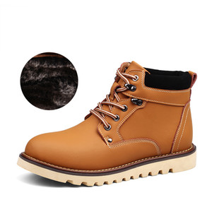 2019 ENLENBENNA Mode Cuir Hommes Bottes Printemps Automne Et D'hiver Hommes Chaussures Cheville Botte Hommes Botte De Neige Chaussure Travail 38-44